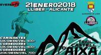 Apunta la fecha: 21 de enero de 2018 TRAIL CASTELL D'AIXA en Llíber. Muy pronto, más información.