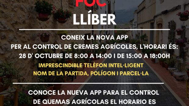 Conoce la nueva app para el control de quemas agrícolas El horario es 28 de octubre de 8:00 a 14:00 i de 15:00 a 18:00h imprescindible smartphone nombre de la […]